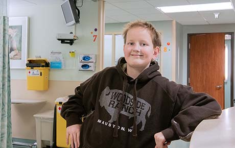 A young boy who was a proton patient.